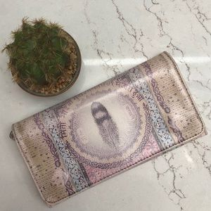 Papaya Feather Wallet